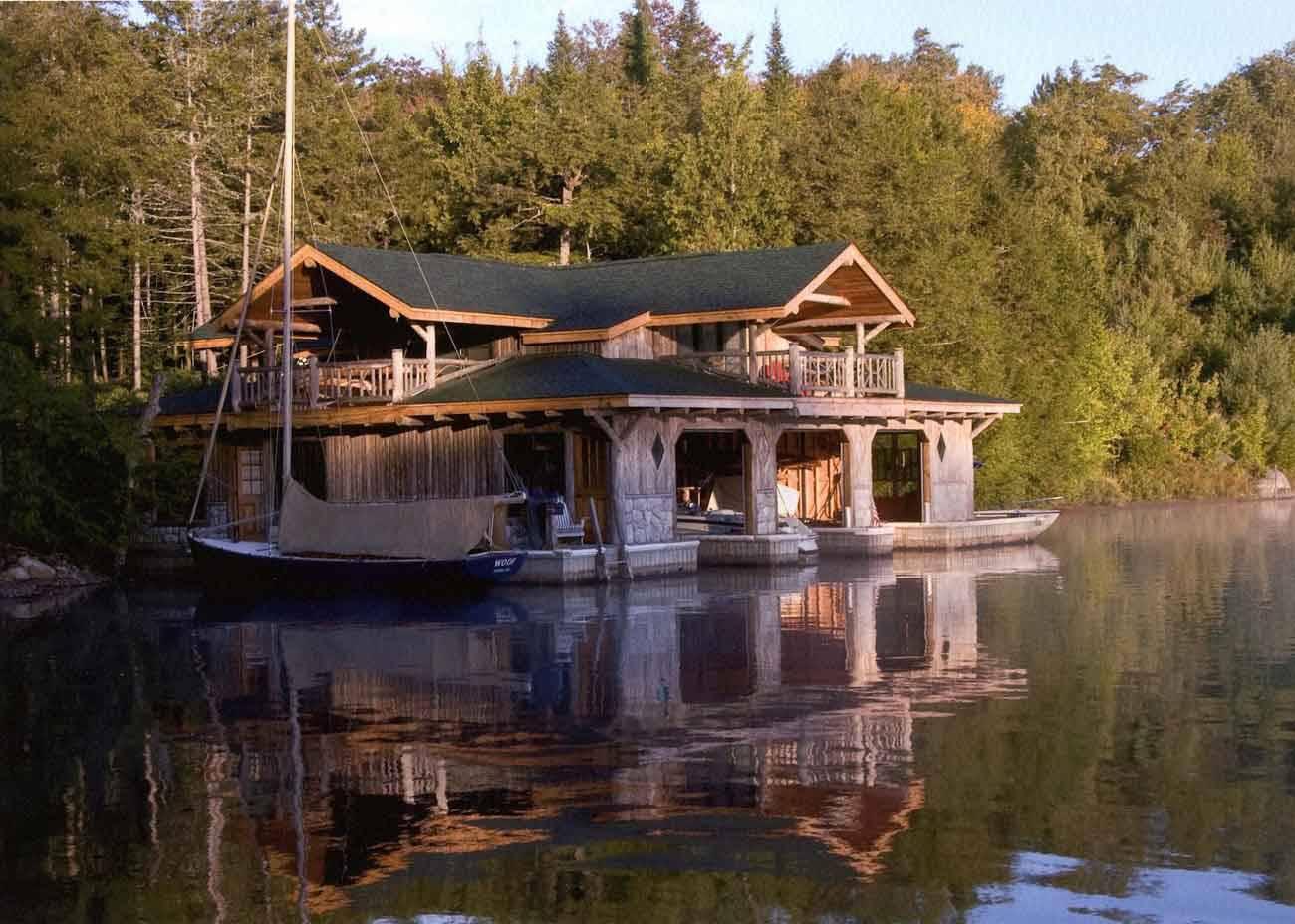 Sunset Aerialview DakotaPoolHouse2 Dakboathouse Chriscrafthood ...